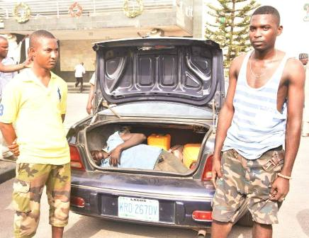 Two Airforce officers arrested for locking boy in car boot